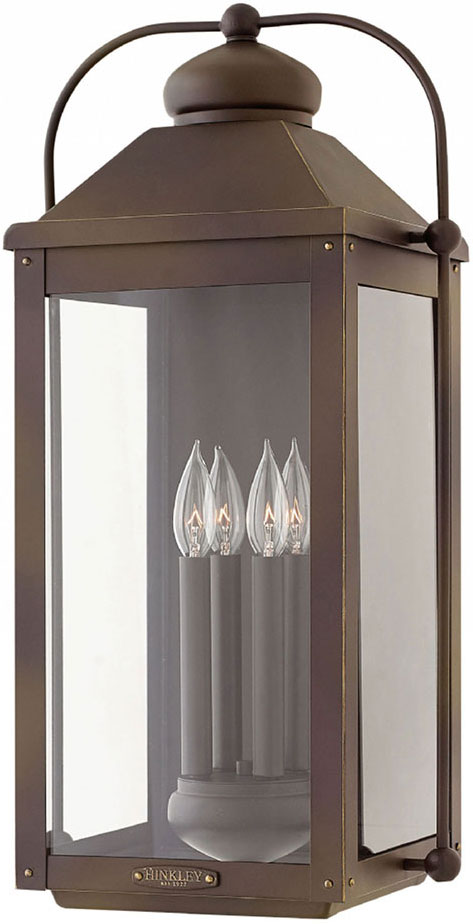 Hinkley 1858lz Anchorage Light Oiled Bronze Outdoor Lighting Wall Sconce Loading Zoom