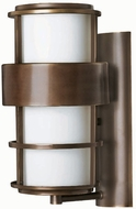 Hinkley 1904MT Saturn 1 Light 16 Inch Contemporary Outdoor Wall Sconce in Metro Bronze