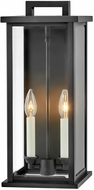 Hinkley 20014BK Weymouth Modern Black Outdoor 18  Lamp Sconce