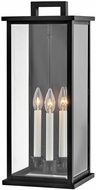 Hinkley 20015BK Weymouth Contemporary Black Exterior 22  Wall Sconce Lighting