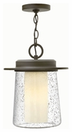 Hinkley 2012OZ Riley Traditional Oil Rubbed Bronze Finish 11  Wide Outdoor Pendant Hanging Light