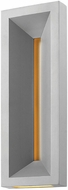 Hinkley 20305TT Plaza Contemporary Titanium LED Outdoor Wall Sconce Lighting