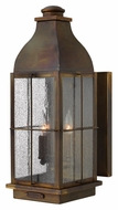Hinkley 2045SN Bingham Traditional 21 Inch Tall Sienna Finish Outdoor Wall Light - Large