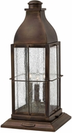 Hinkley 2047SN-LV Bingham Traditional Dark Brass LED Exterior Pier Mount