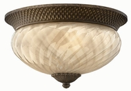 Hinkley 2123-PZ Plantation Tropical Outdoor Three-Light Ceiling Light with Fluorescent Option