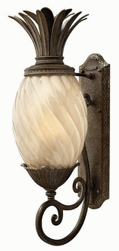 Hinkley 2124-PZ Plantation Tropical Outdoor Wall Sconce with Fluorescent Option - 28 inches tall