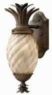 Hinkley 2126-PZ Plantation Tropical Outdoor Wall Sconce with Fluorescent Option - 15 inches tall