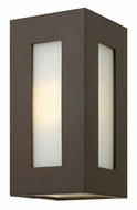 Hinkley 2190BZ Dorian Small Contemporary 12 Inch Tall Outdoor Sconce - Bronze