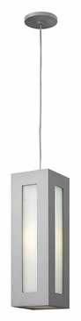 Hinkley 2192TT Dorian Titanium Finish 18 Inch Tall Contemporary Outdoor Drop Lighting