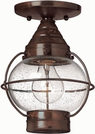 Hinkley 2203SZ Cape Cod 1 Light Outdoor Nautical Duomount Ceiling Fixture in Sienna Bronze