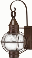 Hinkley 2204SZ Cape Cod 1 Light 23 Inch Outdoor Nautical Wall Sconce in Sienna Bronze