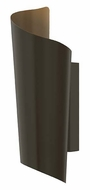 Hinkley 2350BZ Surf 15 Inch Tall Bronze Modern Outdoor Wall Sconce - Small
