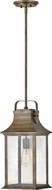 Hinkley 2392BU Grant Traditional Burnished Bronze Exterior Pendant Lighting