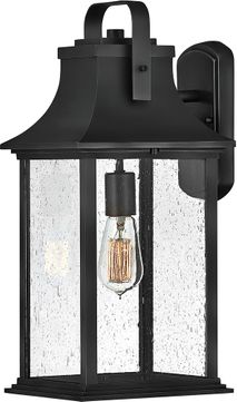 Hinkley 2395tk Grant Traditional Textured Black Outdoor Wall Light Sconce