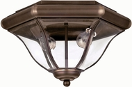 Hinkley 2443CB San Clemente 2 Light Outdoor Flushmount Ceiling Fixture in Copper Bronze