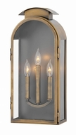 Hinkley 2525LS Rowley Light Antique Brass Exterior Large Wall Lighting