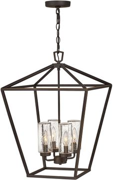Hinkley 2567OZ-LV Alford Place Contemporary Dark Bronze / Light Bronze LED Outdoor Pendant Light