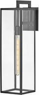 Hinkley 2595BK Max Modern Black Exterior Wall Sconce Lighting