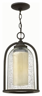Hinkley 2612OZ Quincy Traditional Oil Rubbed Bronze Finish 9.25 Wide Outdoor Hanging Light Fixture