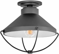 Hinkley 2693BK Crew Coastal Black Dark Sky Outdoor Ceiling Lighting