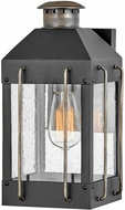 Hinkley 2730TK Fitzgerald Contemporary Textured Black Exterior Wall Lighting Fixture