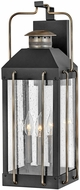 Hinkley 2735TK Fitzgerald Modern Textured Black Exterior Wall Sconce Light