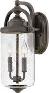 Hinkley 2754OZ Willoughby Contemporary Oil Rubbed Bronze Exterior 17 Light Sconce