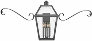Hinkley 2775BLB-SCR Nouvelle Traditional Blackened Brass Exterior Lighting Sconce