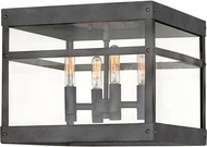 Hinkley 2803DZ Porter Modern Aged Zinc Outdoor Ceiling Light Fixture