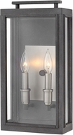 Hinkley 2914DZ-LL Sutcliffe Contemporary Aged Zinc LED Exterior Medium Wall Lighting Sconce