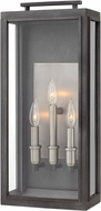Hinkley 2915DZ Sutcliffe Modern Aged Zinc Outdoor Large Wall Sconce Lighting