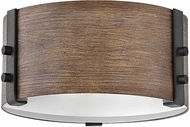 Hinkley 29201SQ-LL Sawyer Contemporary Sequoia / Iron Rust LED Exterior 9  Flush Lighting