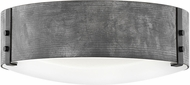 Hinkley 29203DZ-LL Sawyer Modern Aged Zinc / Distressed Black LED Outdoor 15  Flush Mount Lighting