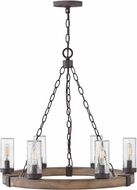 Hinkley 29206SQ-LL Sawyer Contemporary Sequoia / Iron Rust LED Exterior 23 Lighting Chandelier