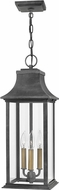 Hinkley 2932DZ Adair Aged Zinc Outdoor Hanging Lamp