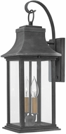 Hinkley 2934DZ-LL Adair Aged Zinc / Heritage Brass LED Exterior Wall Sconce