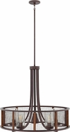 Hinkley 29616IR Beckett Modern Iron Rust Halogen Exterior Chandelier Light