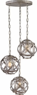 Hinkley 29704WZ Carson Modern Weathered Zinc Outdoor Multi Hanging Lamp