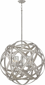 Hinkley 29705WZ Carson Contemporary Weathered Zinc Outdoor Pendant Light Fixture
