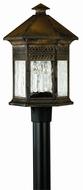 Hinkley 2991SN Westwinds 3 Light 20 Inch Rustic Post Fixture