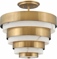 Hinkley 30183HB Echelon Contemporary Heritage Brass Ceiling Light
