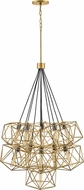 Hinkley 3029DG Astrid Modern Deluxe Gold / Metallic Matte Bronze Multi Pendant Hanging Light