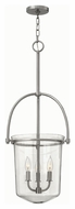 Hinkley 3033BN Clancy Brushed Nickel Finish 35.25 Tall Foyer Drop Ceiling Light Fixture