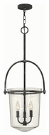 Hinkley 3033DZ Clancy Aged Zinc Finish 15.5  Wide Foyer Drop Lighting Fixture