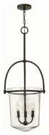 Hinkley 3033KZ Clancy Buckeye Bronze Finish 35.25  Tall Foyer Pendant Lighting