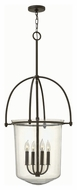 Hinkley 3034KZ Clancy Buckeye Bronze Finish 43.5  Tall Foyer Hanging Lamp