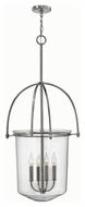 Hinkley 3034PN Clancy Polished Nickel Finish 19.25  Wide Foyer Hanging Light