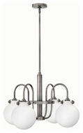 Hinkley 3043AN Congress Antique Nickel Finish 16.25 Tall Hanging Chandelier