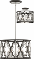 Hinkley 3063GG Portico Contemporary Glacial Gold Drum Drop Ceiling Lighting / Overhead Light Fixture