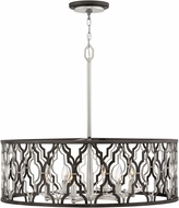 Hinkley 3066GG Portico Contemporary Glacial Gold Drum Hanging Light Fixture